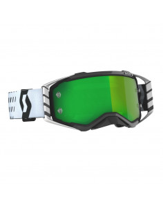 SCO Goggle Prospect black/white grn chro wks